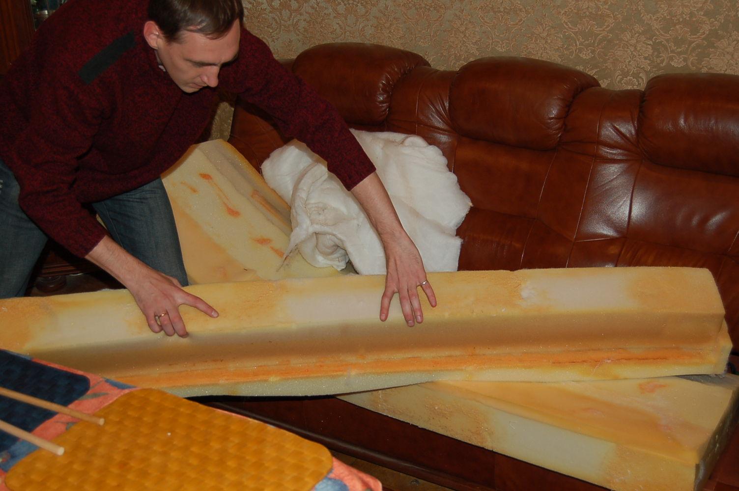 Перетяжка мягкой мебели пошаговое фото