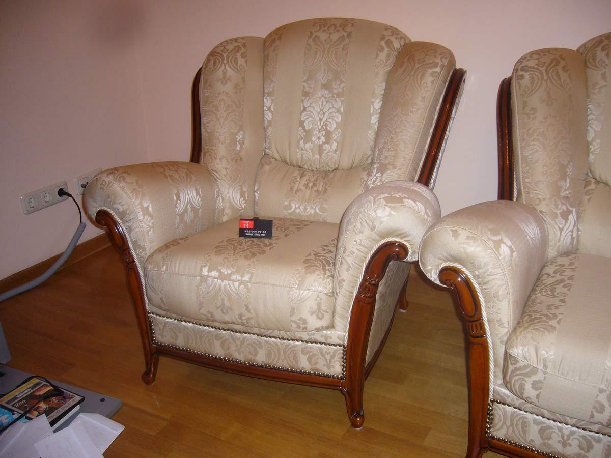Как красиво обтянуть кресло своими руками 52
