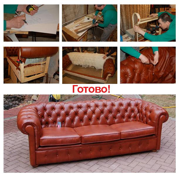 До обивки и после перетяжки мягкой мебели компанией Ясная Поляна