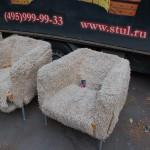 Строгинский бульвар - обивка кресел